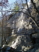 Rock Climbing Photo: Ken's Crack a little damp