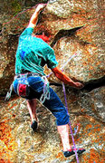 Rock Climbing Photo: Mark Rolofson climbs Red Hot Chili Pepper in the T...
