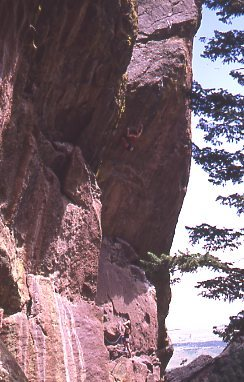 Rock Climbing Photo: Greg Robinson making the 2nd ascent of Chains of L...
