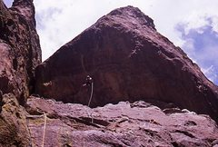 Rock Climbing Photo: PW (Paul Pomeroy) 3rd ascent of Chains of Love.
