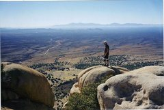 Rock Climbing Photo: P.Ross top of Absinth of Mallat looking towards th...