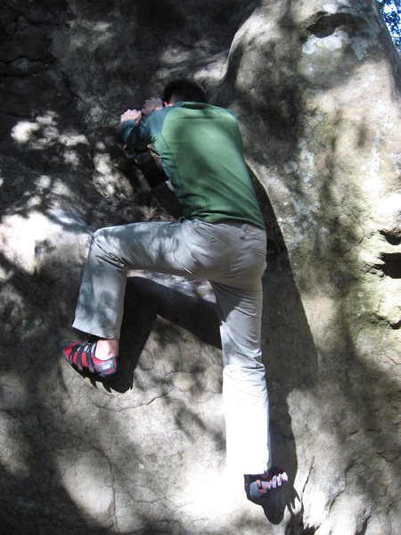 Rock Climbing Photo: Laws using Mr. Magoo's eponymous feature to mount ...