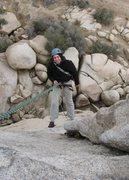 Rock Climbing Photo: Rapping off Hidden Tower at Joshua Tree National P...