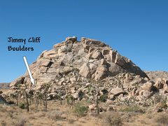 Rock Climbing Photo: Overview for the Jimmy Cliff Boulders, Joshua Tree...