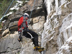 Rock Climbing Photo: October Ice in Spearfish Canyon