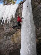 Rock Climbing Photo: Community Cave, Terminator-WI4
