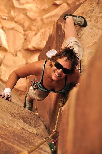 Rock Climbing Photo: Elizabeth on Chocolate Corner