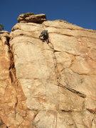 Rock Climbing Photo: Christian finishing up Business Time
