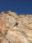 Rock Climbing Photo: Christian on Team Building Exercise