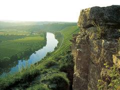 Rock Climbing Photo: Hessigheimer Fels, peaceful views of the vinyards ...