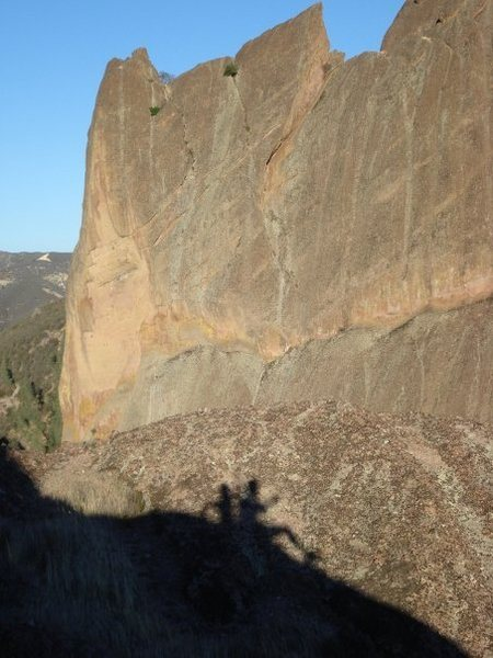 Shadow at Pinnacle Peaks in CA
