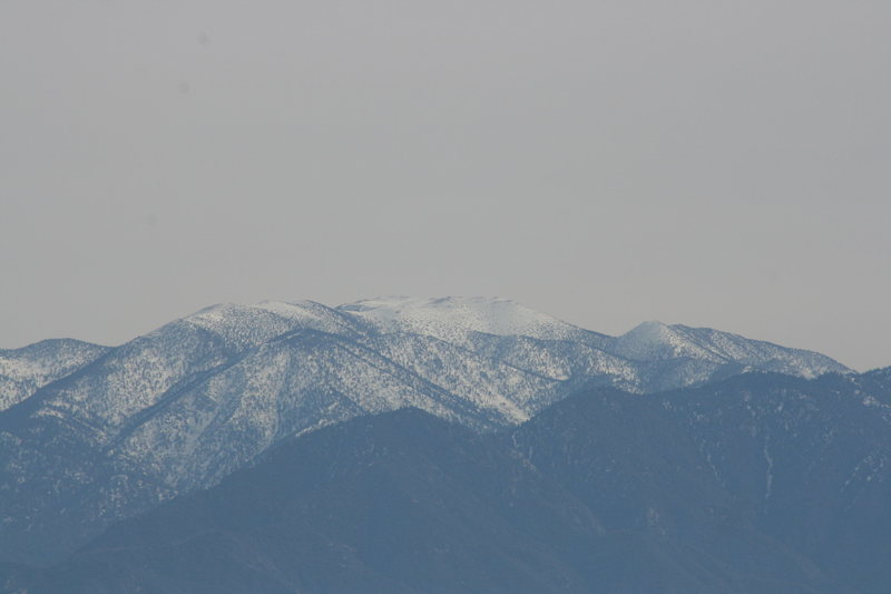 Snow covered San Gorgornio. 12-20-09