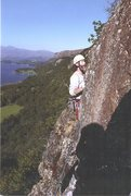 Rock Climbing Photo: Chris Bonington pondering the crux