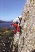 Rock Climbing Photo: Chris on the Crux
