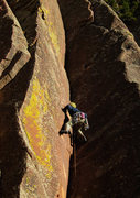 Rock Climbing Photo: The lower crux of Over the Hill.