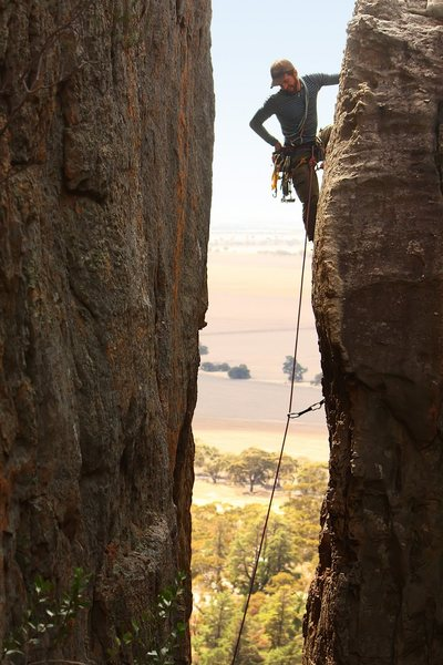 Rock Climbing Photo: Ryan Kelly on Agamemnon