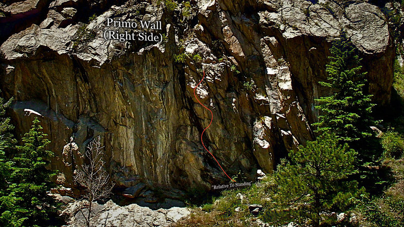 "Rock Climbing Photo: More photo beta for the route ""Relative To St..."