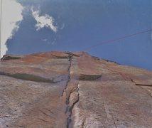 Rock Climbing Photo: Salathe headwall in 1973.First all British ascent