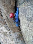Rock Climbing Photo: Artemis Vendemmia on the first pitch of Gargoyle.