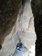 Rock Climbing Photo: Randy Harris and Artemis Vendemmia at the bottom o...
