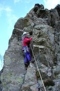 Rock Climbing Photo: Starting up the final pitch.Photo Nicks
