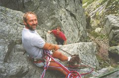 Rock Climbing Photo: Denis Peare and Peter Lockey on Gimmer Crack 5.8.p...