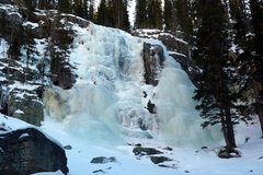 Rock Climbing Photo: The falls on December 20, 2009.  Compare this phot...
