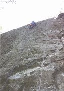 Rock Climbing Photo: P.Ross on First Ascent... Paper Thin.E3 5c (5.10c)...