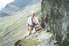 Rock Climbing Photo: John Powell and John Porter on Pavey Ark crag .. L...