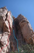 Rock Climbing Photo: Supermax follows the red line.  (Solitary Confinem...