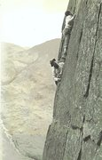 Rock Climbing Photo: Historic Photo 1954.The late George Fisher (Keswic...