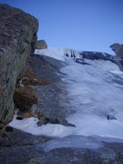 Rock Climbing Photo: Looking up the 3rd pitch of Concrete Shoes 12-20-0...