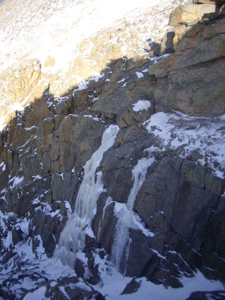 Picture of route 11/22/09, not climbed until 12/20. More ice in November, no doubt.