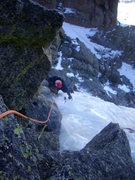 Rock Climbing Photo: Eric Lashinsky just getting through the roof, near...