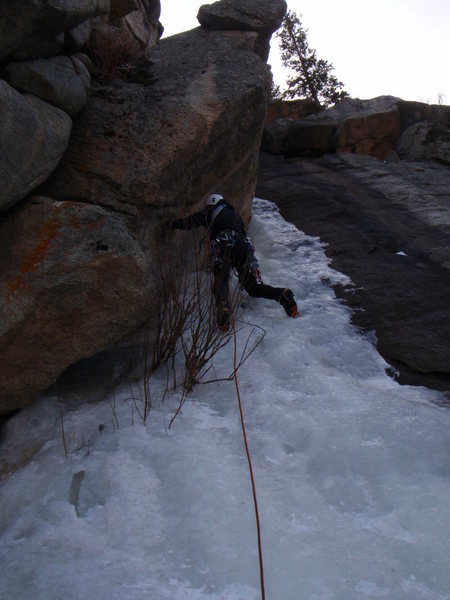 Starting &quot;The Ramp&quot;, Boulder Canyon 12/09<br> Photo: Witting.