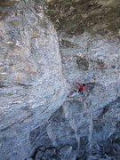 Rock Climbing Photo: Jon F following the first pitch.