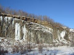 Rock Climbing Photo: Conditions as of Dec. 15th, 2009. The pillar has g...