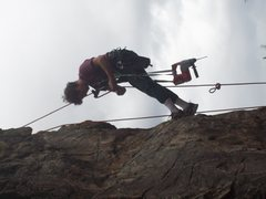 Rock Climbing Photo: Russ work'in a new route Red Stone area