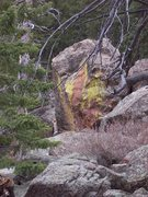 Rock Climbing Photo: Unclimbed boulder in the scree field?
