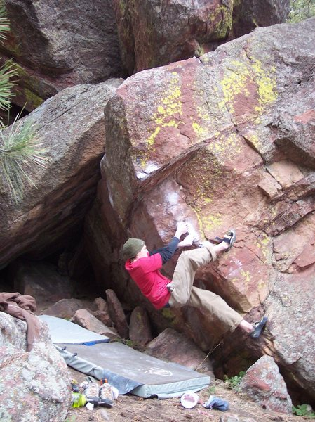 Rock Climbing Photo: Tyson H. pullin' through.