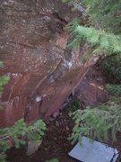 Rock Climbing Photo: V2 arete.