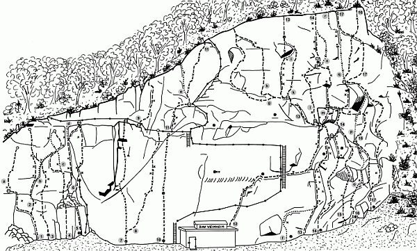 Here is the Topo for Jakobswand, courtesy of the Weinheim sektion of the Deutscher Alpen Verein