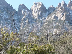 Rock Climbing Photo: Low Horn #5 in center, as viewed from the Pine Tre...