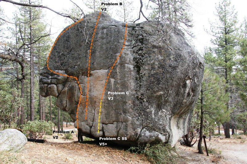 Mushroom Boulder Uphill Face Topo