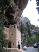 "Rock Climbing Photo: The ""Ermita Sant Salvador"" shrine, built..."