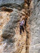 Rock Climbing Photo: The steep, juggy start of Somiatruites