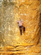 Rock Climbing Photo: After a dynamic start, juggy pockets lead up the s...