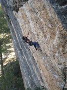 Rock Climbing Photo: The marginal shake just above the crux.