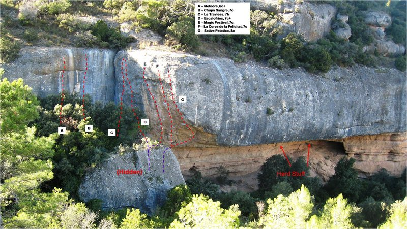 Rock Climbing Photo: Some of the routes at Tenebres.