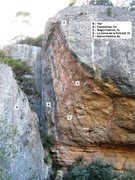 Rock Climbing Photo: The routes on the Magic Fest prow.  All of these r...